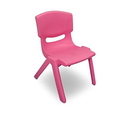 MEDIA WAVE store 173710 Silla de plástico Resistente para niños 26x30x50 cm - Rosa