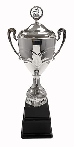 Trophy Monster BMX Super-Sized Double Base Cup   Metal Bowl, Handles, Lid   Free Engraving   Free Logo on Lid   Ideal Annual Award to last Lifetime   3 sizes 595mm – 685mm