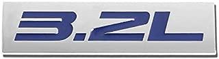 UrMarketOutlet 3.2L Blue/Chrome Aluminum Alloy Auto Trunk Door Fender Bumper Badge Decal Emblem Adhesive Tape Sticker