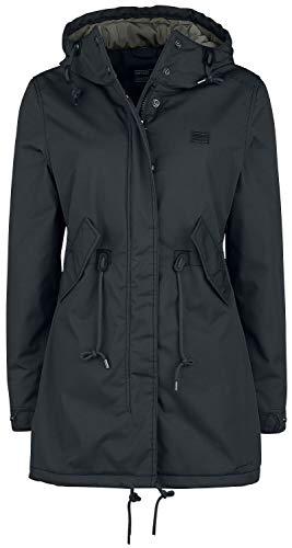 Vintage Industries Britt Ladies Parka Frauen Winterjacke schwarz S 65% Polyester, 35% Baumwolle Basics