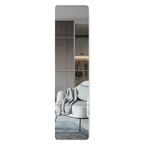 arttranson 壁掛けミラー 全身鏡 自由組合 飛散防止 インテリア 姿見 ガラス製 30x30cm 4枚セット