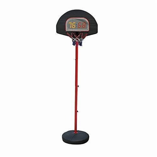 Tragbare Basketballbretter Indoor Kinder Tragbare Basketball Box Startseite Mobile Hebe Basketball-Standplatz Spielzeug Basketball Ständer Basketballbretter (Color : Black, Size : 0.9-1.75m)