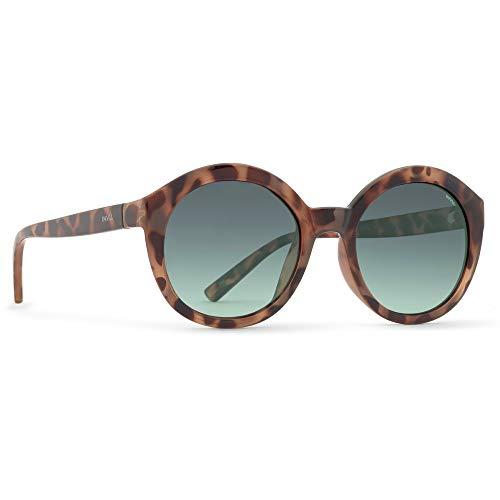 INVU Damen Polarisierte Sonnenbrille Trend T2703 Demi (T2703C), Linse Grün mit Verlauf