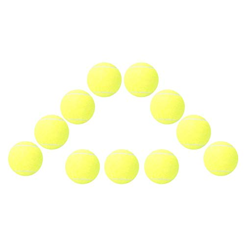 Buy Discount Vbest life 12PCS Training Sport Tennis Balls, High Elastic Professional Tennis Balls fo...