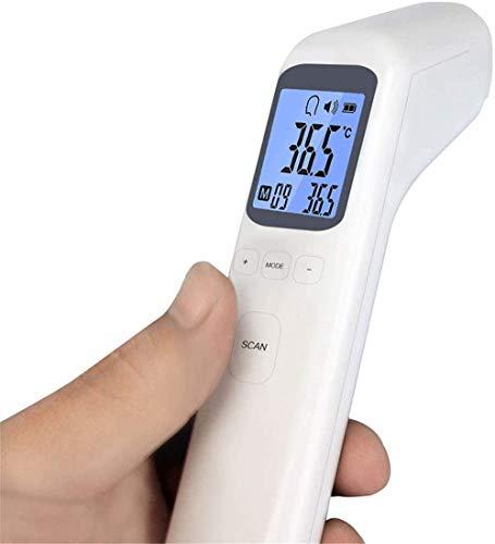 LLDKA Metro de la Temperatura sin contacto Medición de la Salud Cuidado Digital sin Contacto termómetro infrarrojo IR Frente de Adultos Cuerpo Bebe médicos