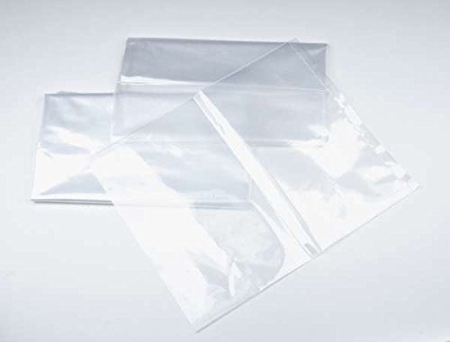 18 x 24 1 mil. - Clear Plastic Flat Open Poly Bag (100 Pack) | MagicWater Supply Brand