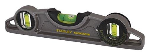 Stanley FatMax Pro Torpedo-Wasserwaage, Aluminium (magnetisch, 25 cm Länge, horizontale/vertikale/45°-Libelle) 0-43-609