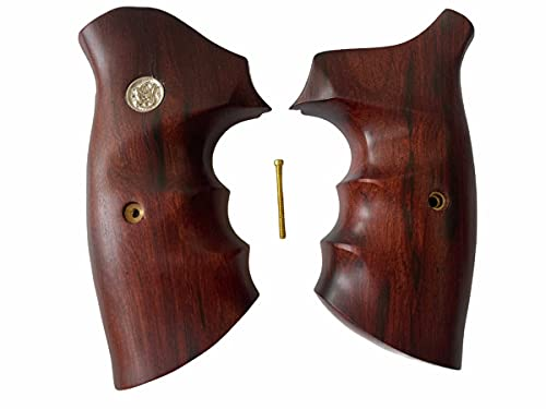 handicraftgrips New Smith & Wesson S&w N Frame Round Butt Grips Open Back Smooth Hardwood Handmade #NRW02