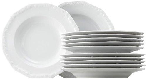 Rosenthal 10430-800001-18339 Maria - Vajilla (12 piezas), color blanco