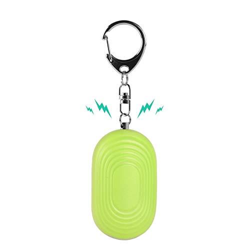 CXSD Alarmas personales: llavero de sirena de seguridad aprobada por la policía de 130 dB con linterna para niños, mujeres, ancianos, aventuras al aire libre, etc. (color verde)