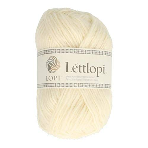 theofeel Lettlopi Wolle 0051 wollweiß, Islandwolle zum Stricken von Islandpullovern, Norwegermuster