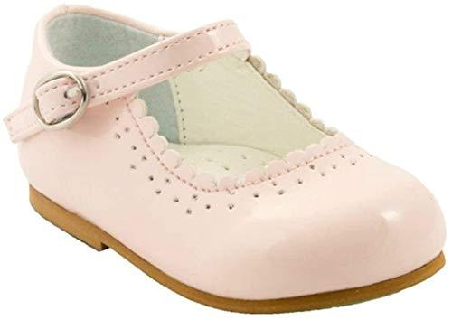 Sevva, Emma, Kinderschuhe, patentierte rutschfeste Sohle, zum Laufenlernen, im spanischen Stil, Weiß/Marineblau/Schwarz/Pink/Rot, für Hochzeitsfeier, Pink - rose - Größe:  (24 EU ) Jugend 2-3 Jahre