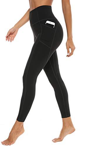 JOYSPELS Leggings Damen, Sporthose Damen Sportleggins Yogahose Leggins Schwarz XL