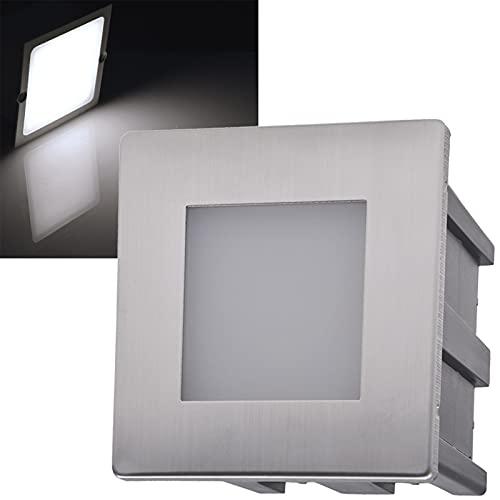 LED Applique murale encastrable en acier inoxydable Blanc neutre 5 W 40 lm 80 x 80 mm