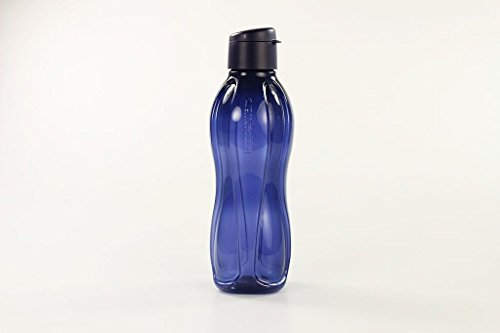 TUPPERWARE To Go Eco 1 L dunkelblau Trinkflasche Ökoflasche Öko EcoEasy