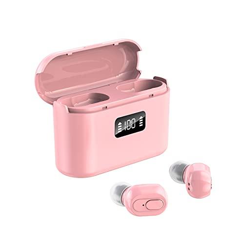 jiuhencaodan Bluetooth Kopfhörer Sport Kabellose Headphones In Ear Bluetooth 5.0 9D-Stereo Headset Wireless Kopfhörer Wasserdicht Ohrhörer Bluetooth Earbuds Headphones, intensivem Bass (Rosa)