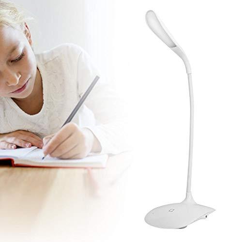 LED-bureaulamp USB oplaadbare, flexibele zwanenhals tafellamp 360 verstelhoek Oogbescherming Tafellamp voor thuiswerk Lezen Werkstudie(Oplaadtype)