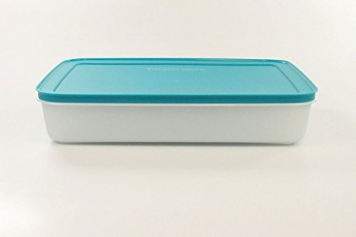 TUPPERWARE Gefrier-Behälter 2,25 L türkis weiß flach Eis-Kristall Eiskristall 17254