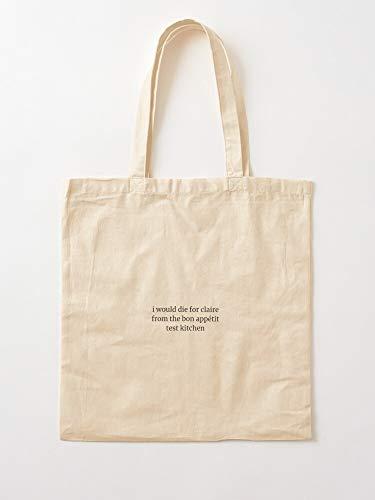 deadw Claire Saffitz Bon Kitchen Test Ba Appetit Brad Canvas Tote Umhängetasche Stylish Shopping Casual Bag Faltbare Reisetasche