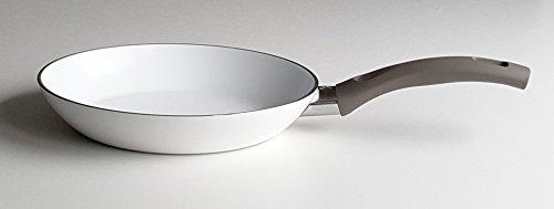 BALLARINI Hochwertige Aluminium Pfanne 20cm 24cm 28cm oder 3er Set weiß Keramik alle Herdarten Softtouch Griff (20cm Durchmesser)
