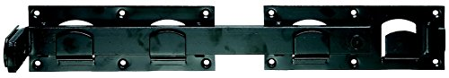 GAH-Alberts 210205 Doppeltorüberwurf, links und rechts verwendbar - schwarzer Tauchlack, 423 x 70 mm