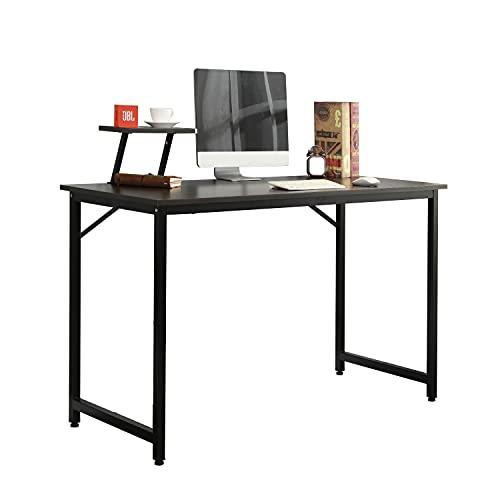 DlandHome Computer Desk 100 * 50cm with Display Stand, Home Office Desk/Workstation/Table,office desk Black & Black