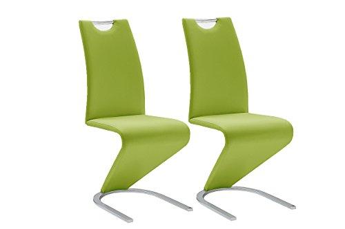 Robas Lund Esszimmerstühle 2er Set Schwingstuhl Lime, Esszimmerstuhl Stuhl Amado