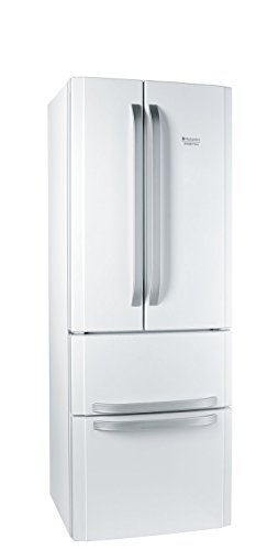Hotpoint-Ariston E4D AAA W C nevera puerta lado a lado - Frigorífico side-by-side (Independiente, Color blanco, Puerta francesa, 470L, SN, ST, T, No, 40 Db)