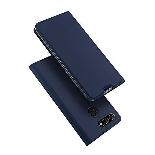 Hülle für Honor View 20, Leder Flip Handyhülle Schutzhülle Tasche Case mit [Kartenfach] [Standfunktion] [Magnetverschluss] für Huawei Honor View 20 (Blau)