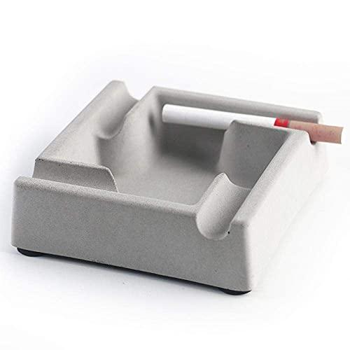 FBDGNG Aschenbecher für Innen Aschenbecher mit Deckel Haushalt Aschenbecher Mode Einfach Nordic Industrial Stil Persönlichkeit Wohnzimmer Dekoration Zement Aschenbecher