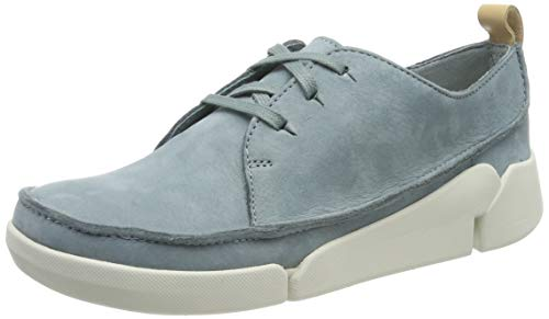 Clarks Tri Clara, Zapatillas para Mujer, Azul Blue, 37.5 EU