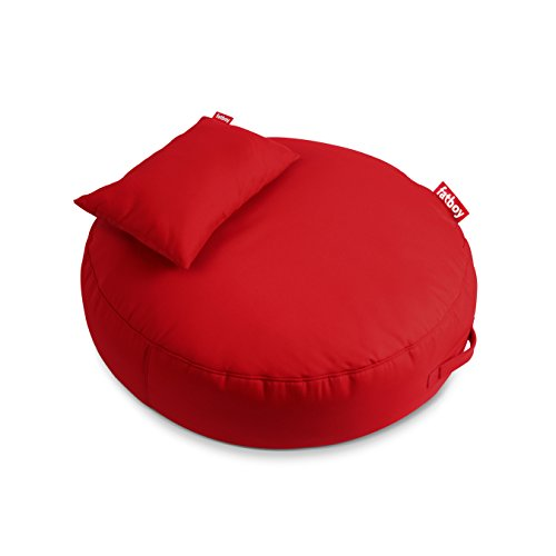 Fatboy Pupillow Indoor Outdoor Bean Bag Pouf Ottoman and Seat, Red