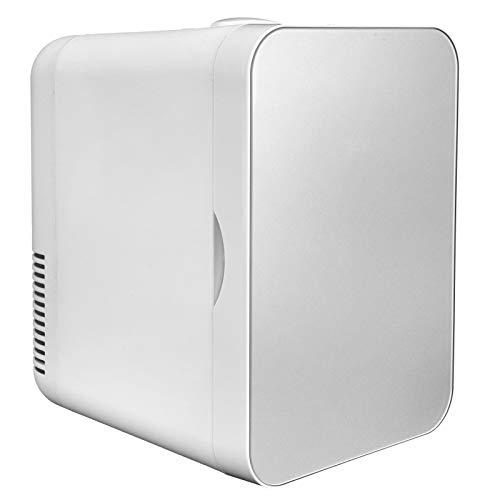 RBSD Mini Nevera - Refrigerador de Coche de 8 L y 12 V, Enfriador y Calentador termoeléctrico portátil AC/DC para el Cuidado de la Piel, Alimentos, medicamentos, hogar y Viajes, Plateado(EU)