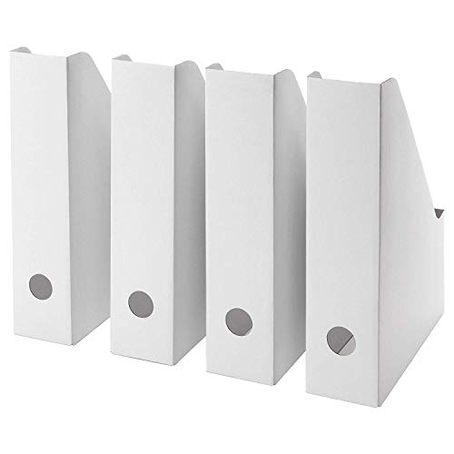 Ikea White Magazine FLUNS File Holder Document Organizer Paper Book Storage Office Desk Organizer By Lizzy Outlet (Pack Of 20)