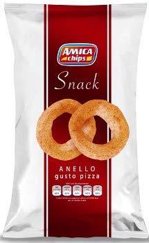 Anelli di Mais alla Pizza - Amica Chips 24 sacchetti da 50 grammi