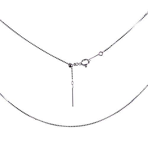 プラチナ(Pt850) スライドピン/ピンフリー/フィニッシュピン ベネチアンチェーン ネックレス 長さ調節可能(幅0.7mm・長さ45cm)