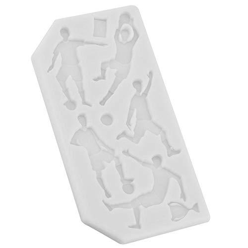 Siliconen bakvorm voetbal rugby Golf Food Grade siliconen vorm fondant cake chocolade DIY bakvorm kinderen gereedschap voor huisgemaakte chocolade bakvorm zeep kaars geleipudding grijs