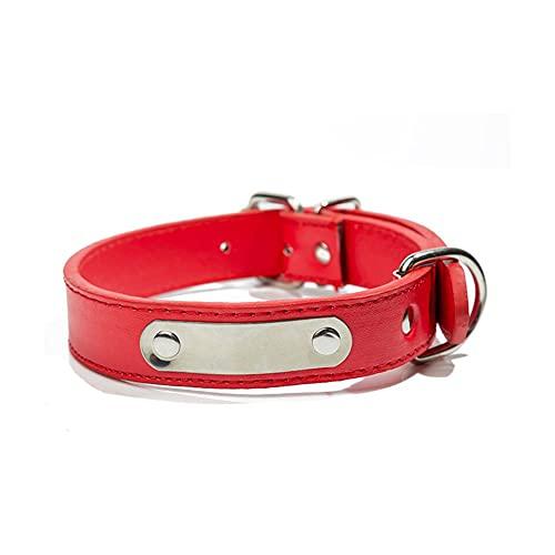 Collares para perros, collares ajustables de poliuretano para mascotas, adecuados para perros jóvenes, pequeños, medianos, grandes y súper grandes (rojo, X-Small)