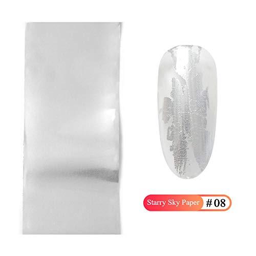 Jbwlkj Marmor Design Metallic Folie Für Nagelschieber Holographic Transfer Wrap Aufkleber Sternen Maniküre Dekor Nagel Zubehör-Pk2096