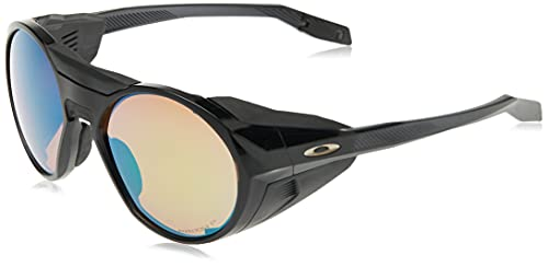 Oakley Men's OO9440 Clifden Round Sunglasses, Black Ink/Prizm Shallow h2o Polarized, 56 mm
