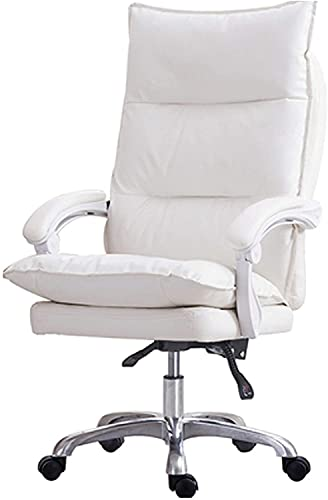 HZYDD Office Swivel Chair, Reclining Seat, Racing Chair, (Color : White1)