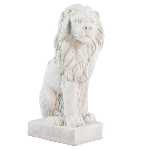 XL Löwe Skulptur Figur Statue Garten Haus Antik-Stil Gartendeko 75cm Torwächter