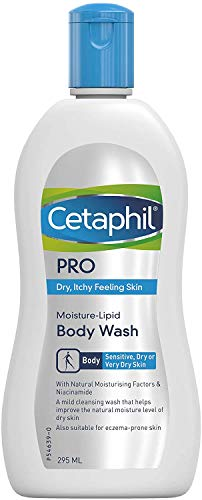 Cetaphil Pro Moisture Lipid Hydrating Body Wash Cleanser with Niacinamid and - Dry jucky sensitive skin - Ekzemanneigende skin 295ml