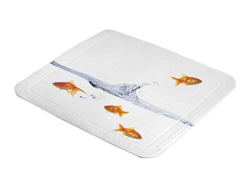 Kleine Wolke 5310148002 Duscheinlage Goldfisch, 55 x 55 cm, multicolor