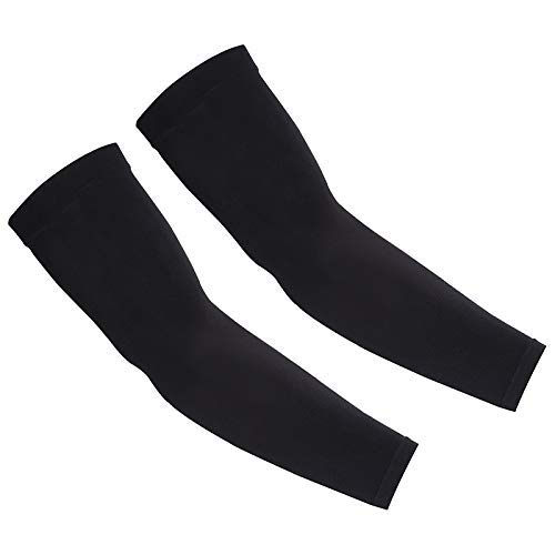 KUHNMARVIN UPF 50 Compression Arm Sleeves for Men/Women/Students… (Black)