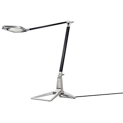 Leitz Style smarte LED Schreibtischleuchte, USB-Ausgang, Bluetooth, satin schwarz, 62080094