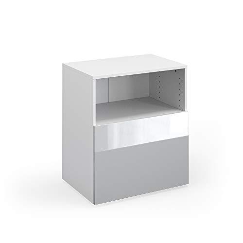 Vicco Schrank Compo Schubladenschrank Aktenschrank Büro Wohnzimmer (weiß/weiß Hochglanz)