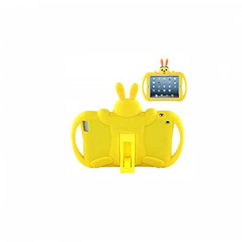 YepYes Estuche Protector de Dibujos Animados Compatible con iPad Mini 4 5 niños Tableta de Silicona Suave Tableta Trasera Cubierta Protectora Amarillo