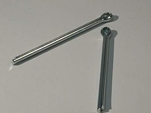 10 Stück Splinte DIN 94 galvanisch verzinkt (Verzinkter Stahl, 3,2 mm, Stiftlänge 50/51,6 mm für Schrauben 11-14)