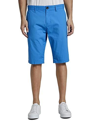 TOM TAILOR Herren Chino Bermuda Shorts Hose, Blau ( 16341 - brilliant middle blu ) , 32